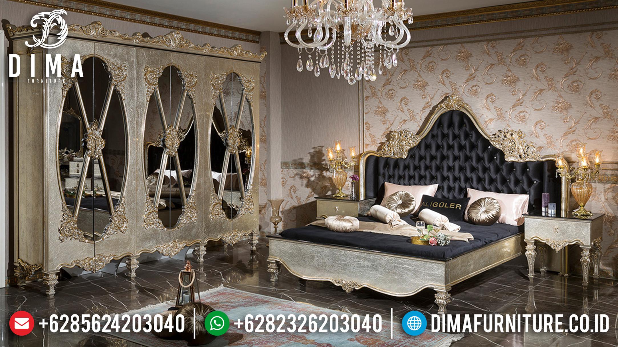 Kamar Set Jepara Exclusive Tempat Tidur Mewah Silver Leaf 2019 DF-0682
