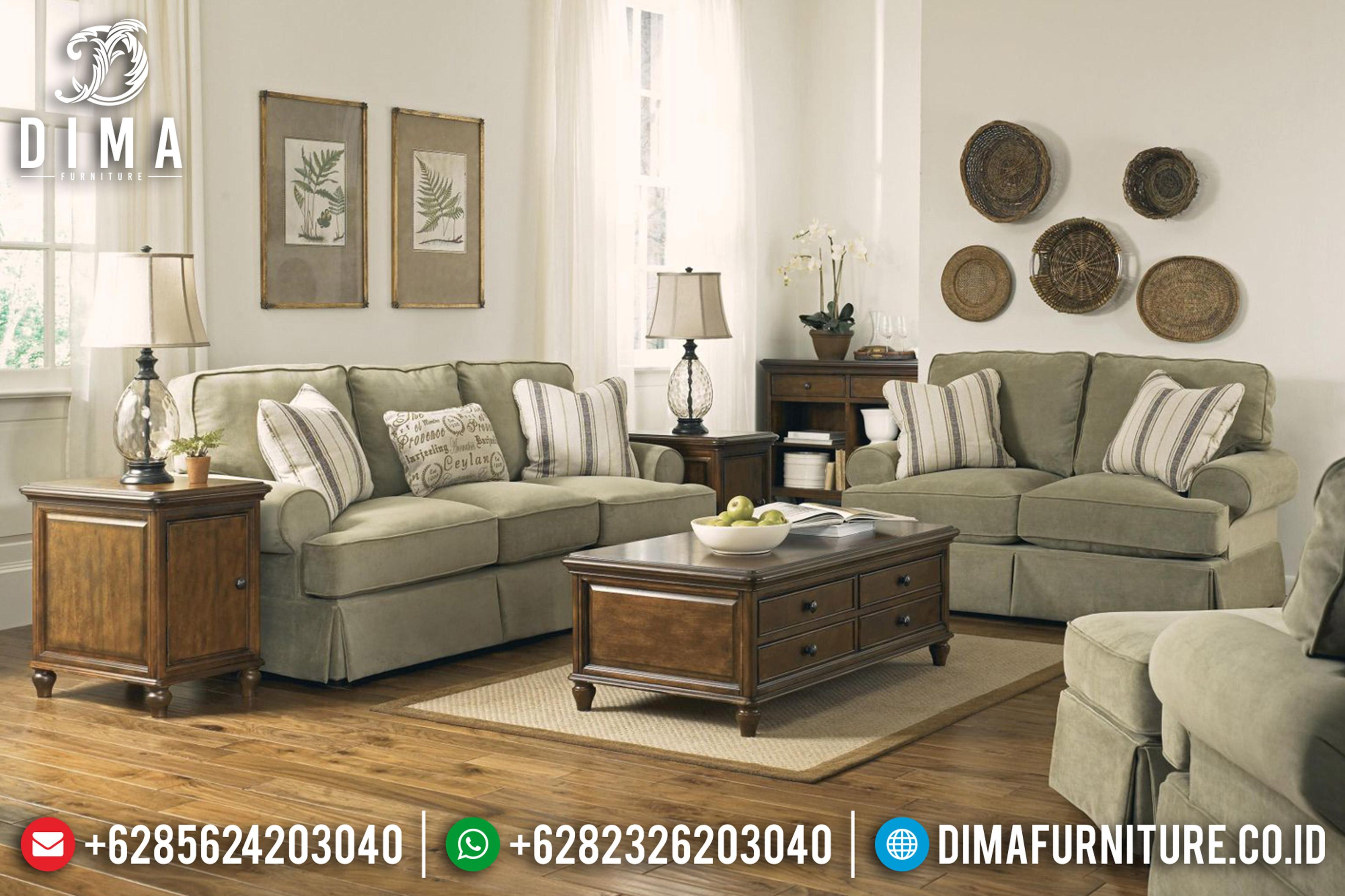 Mebel Jepara Terbaru Set Sofa Tamu Minimalis Mewah Aldridge Fabric DF-0665