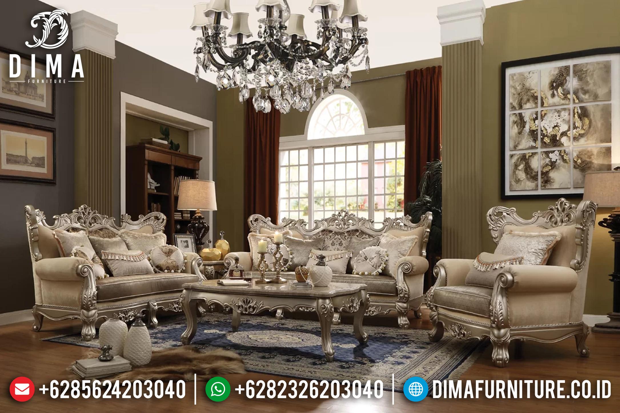 Sofa Tamu Mewah Jepara, Furniture Indonesia, Kursi Jepara Klasik DF-0684