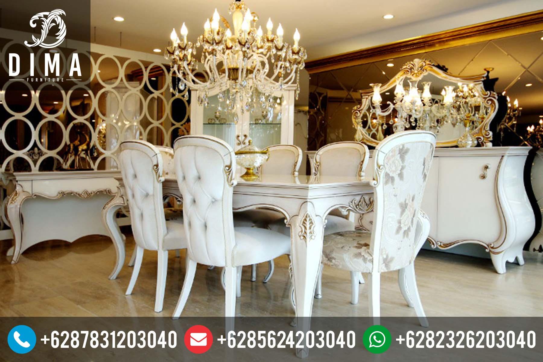 Meja Makan Jepara Murah Mewah Klasik Safran Terbaru DF-0017