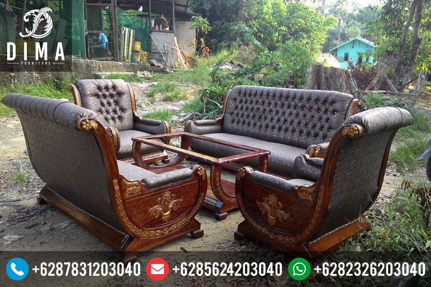 Kursi Sofa Tamu Jati Murah Mewah Ukiran Jepara Terbaru DF-0030