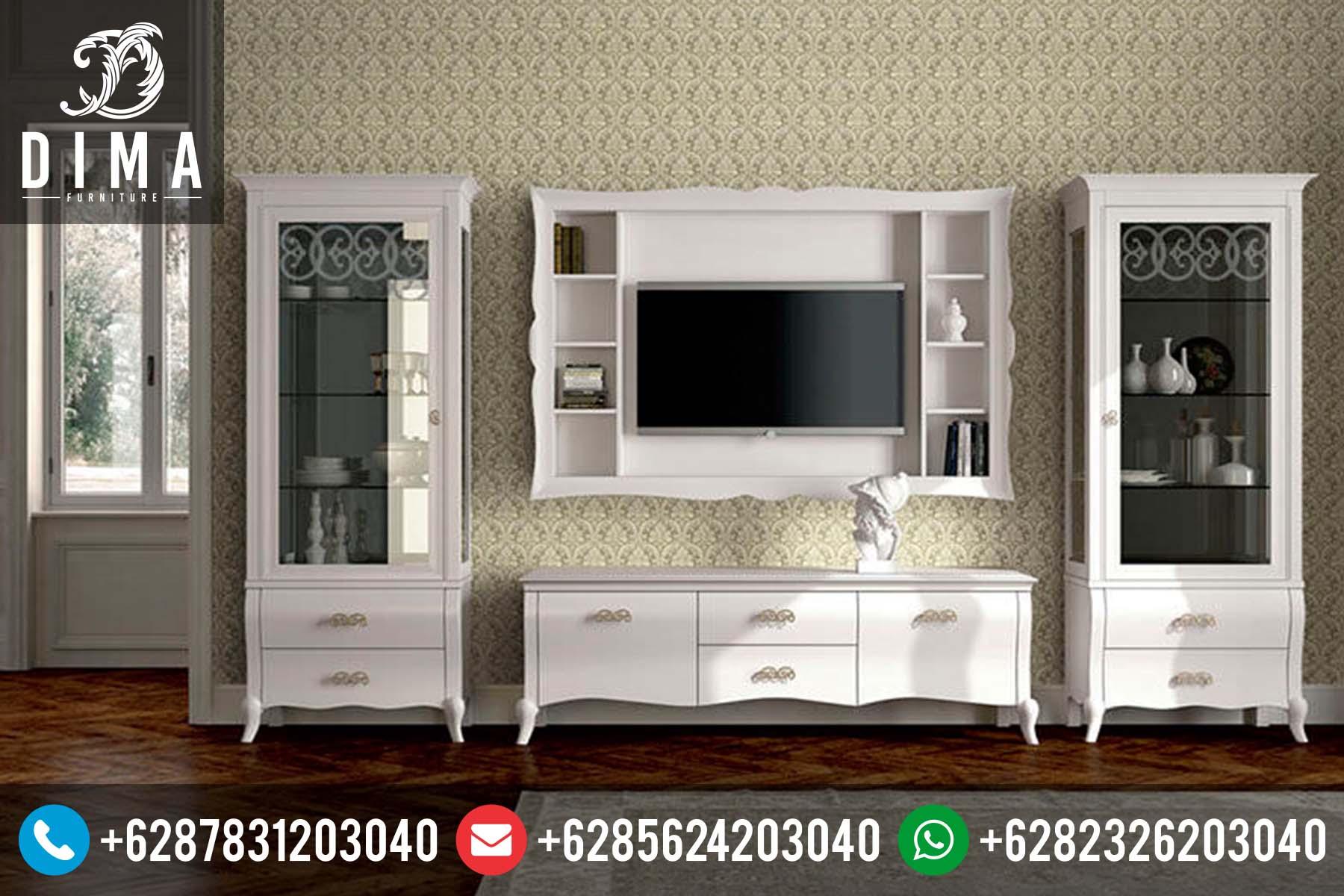 Set Bufet TV Minimalis Murah Duco Putih Terbaru Mewah Jepara DF-0042
