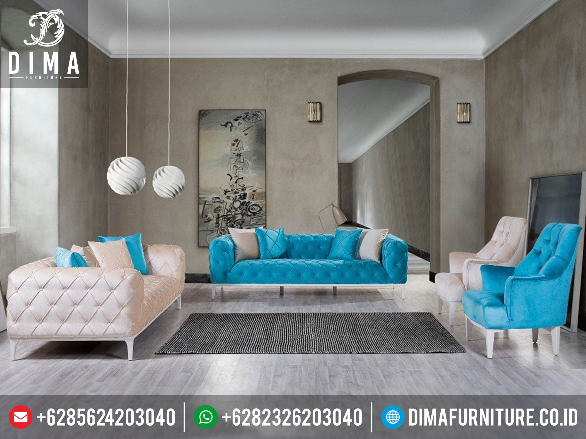 Set Kursi Sofa Tamu Minimalis Modern Terbaru Mewah DF-0166