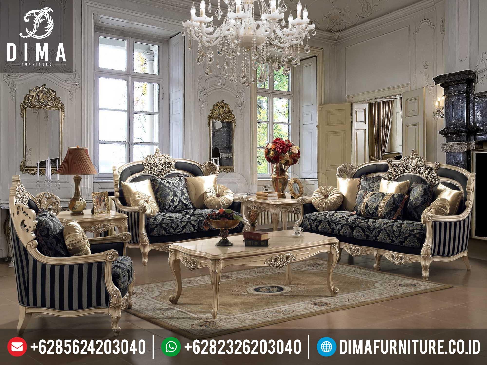 Sofa Tamu Jepara Terbaru Mewah Best Seller Living Room Classic DF-0167