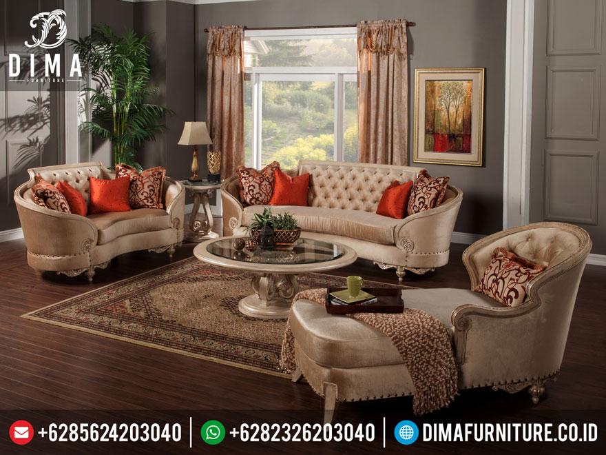 Mebel Terbaru Set Kursi Sofa Tamu Klasik Mewah Lengkung DF-0215