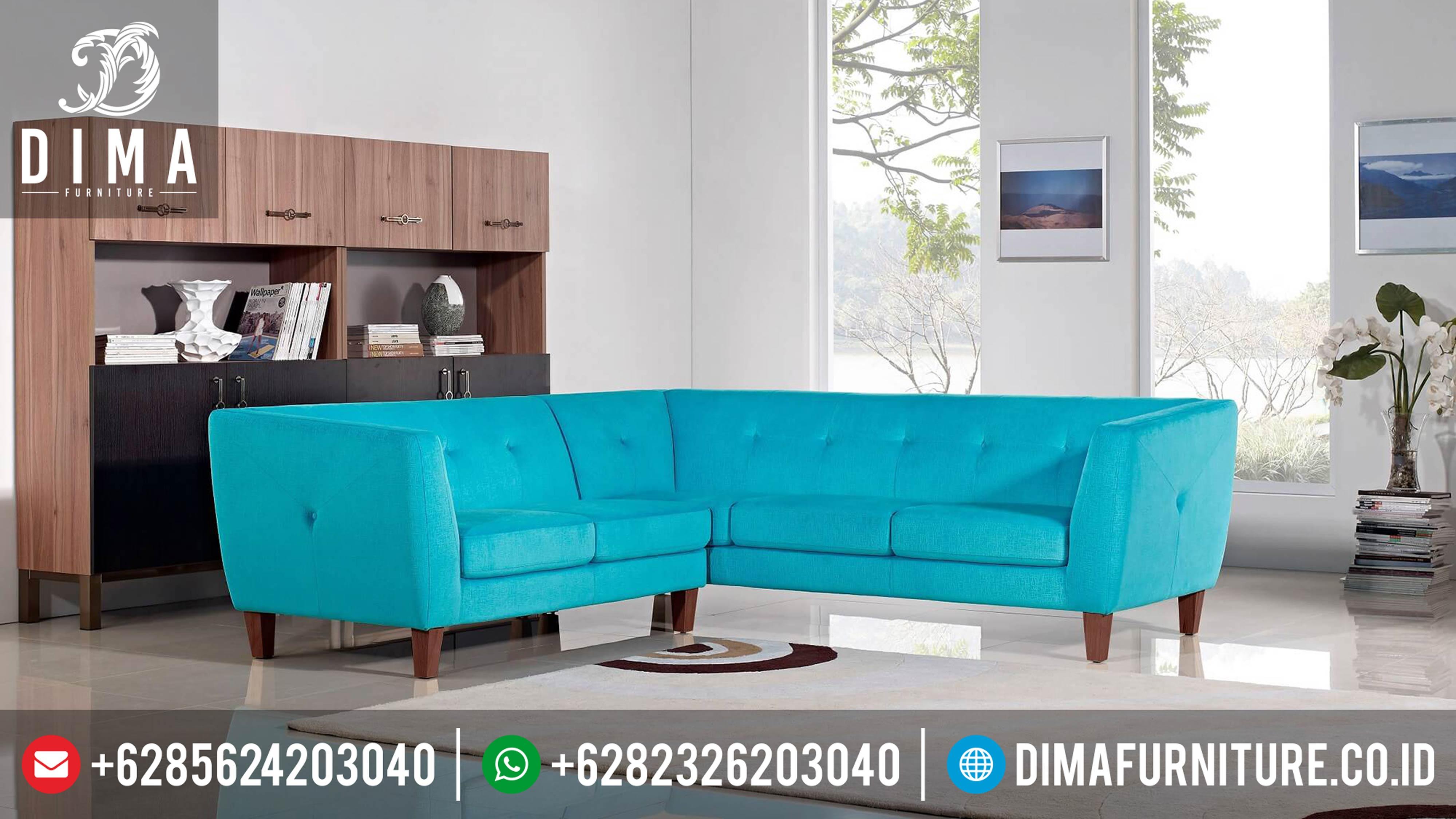 Sofa Tamu Minimalis Sudut L Terbaru Jepara DF-0295