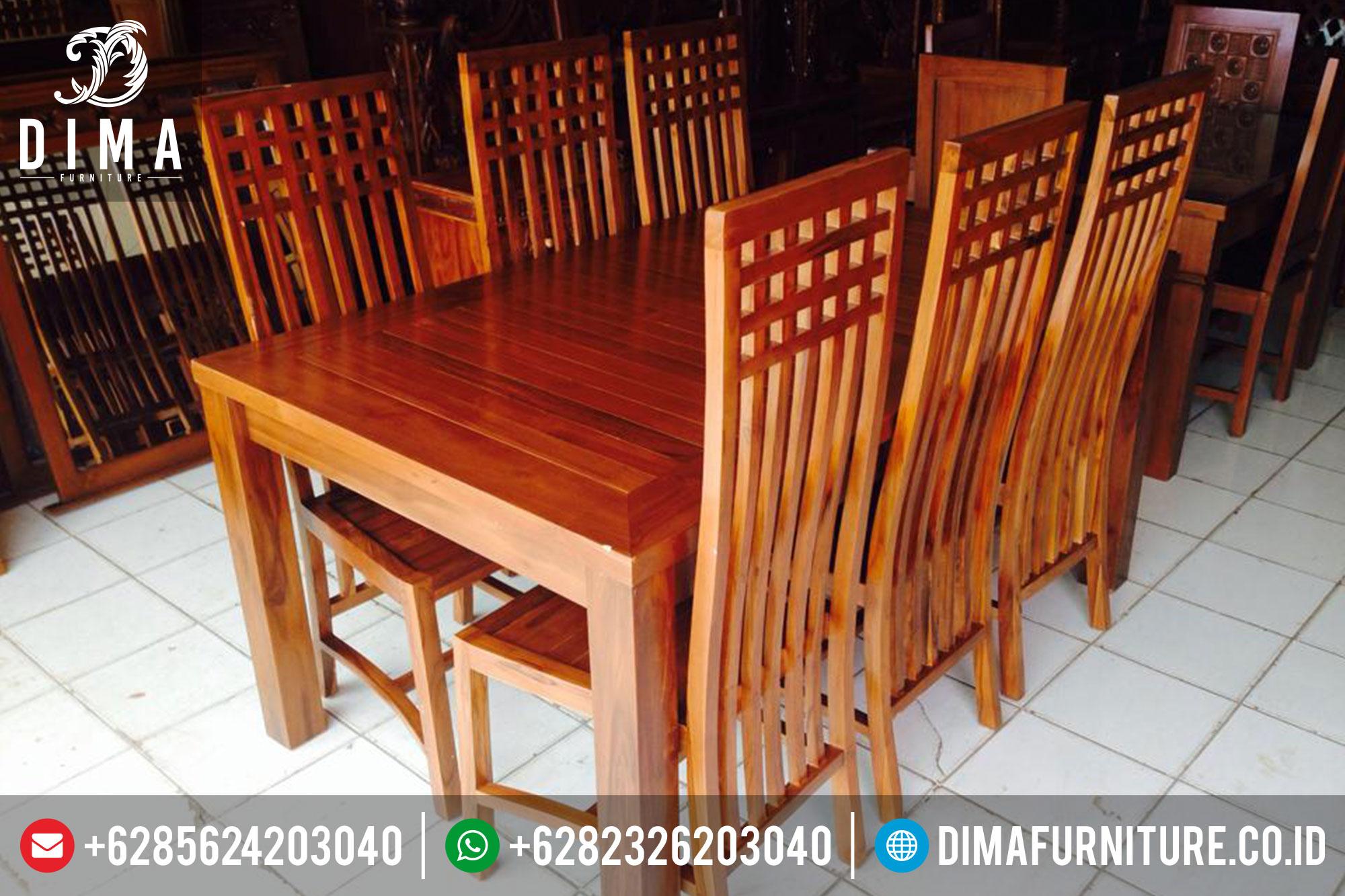 Meja Makan Jati Jepara, Meja Makan Minimalis, Kursi Makan Terbaru DF-0322