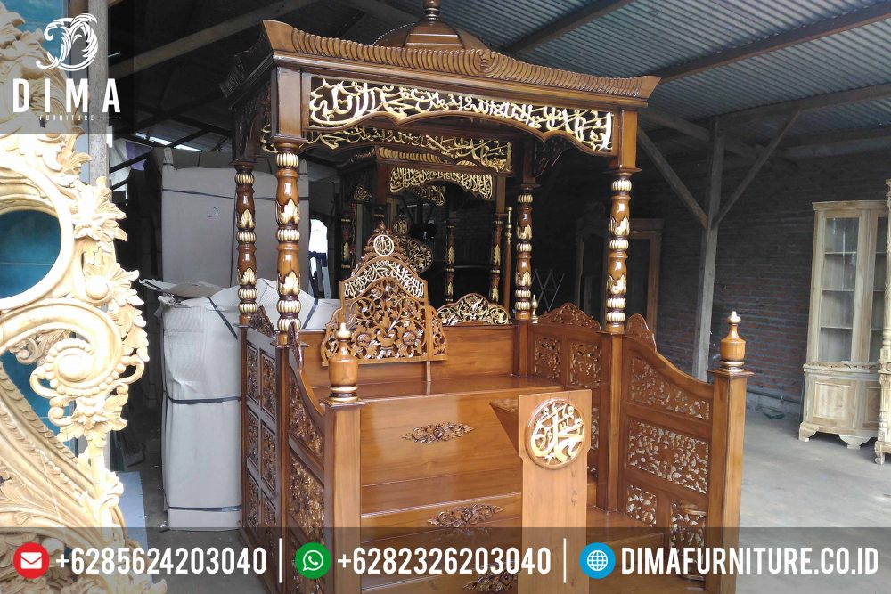 Mimbar Masjid Jati, Mimbar Jati Jepara, Mimbar Masjid Murah DF-0325