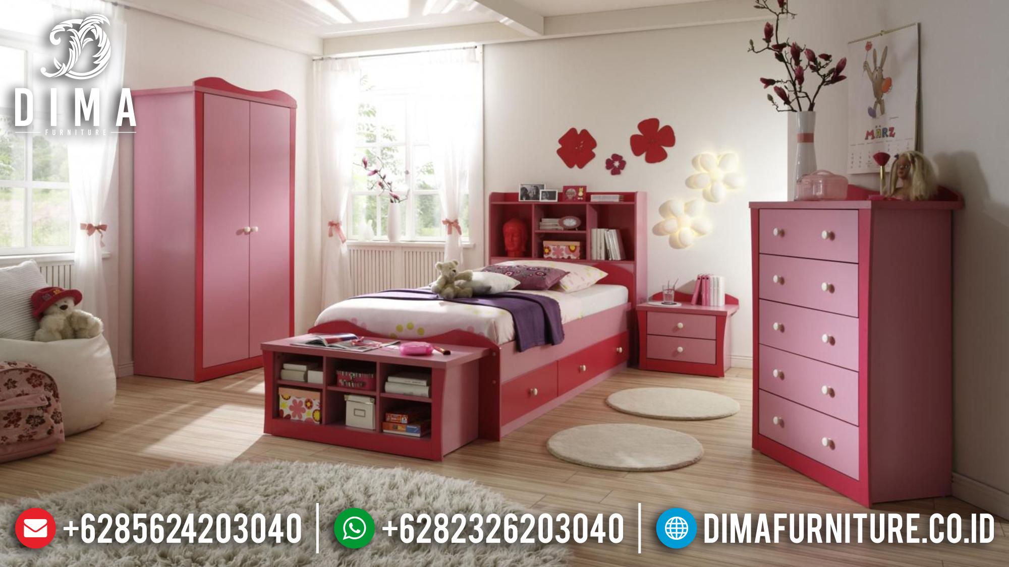 Kamar Set Anak Perempuan Minimalis Modern Terbaru Pinky DF-0346