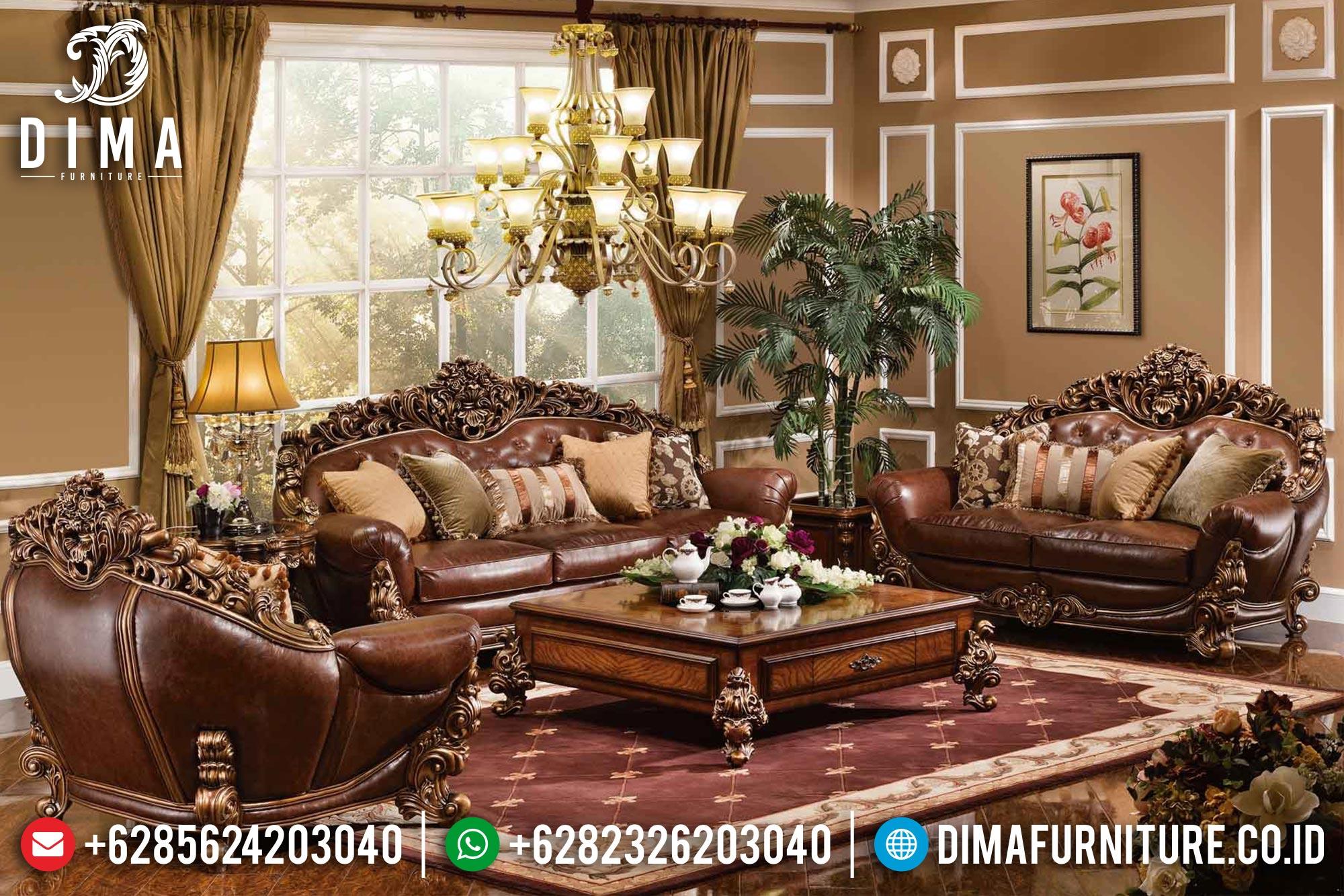 Set Sofa Tamu Mewah Klasik Brunello Jati Jepara DF-0333