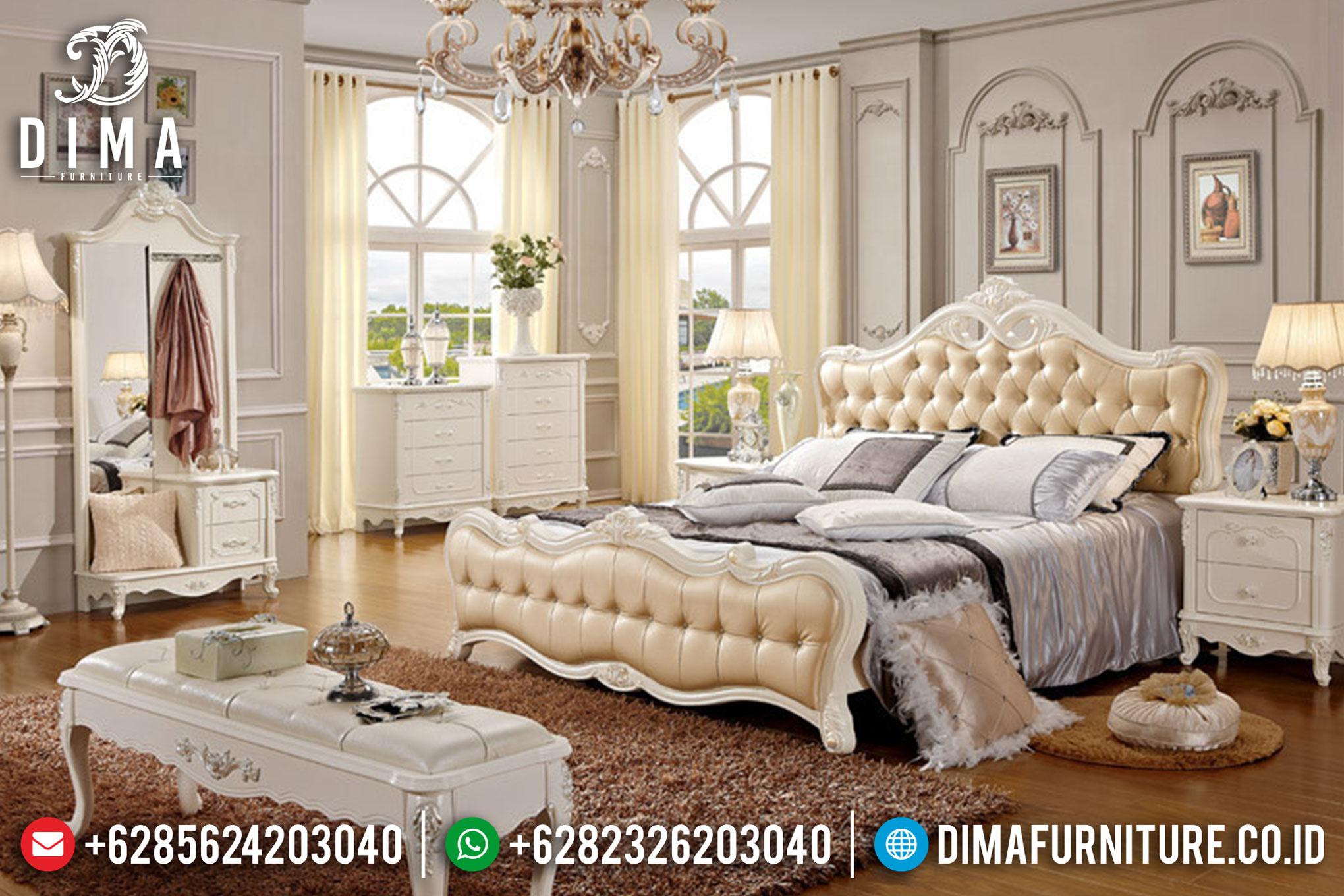 Set Kamar Tidur Minimalis Mewah Ukiran Jepara Terbaru DF-0364