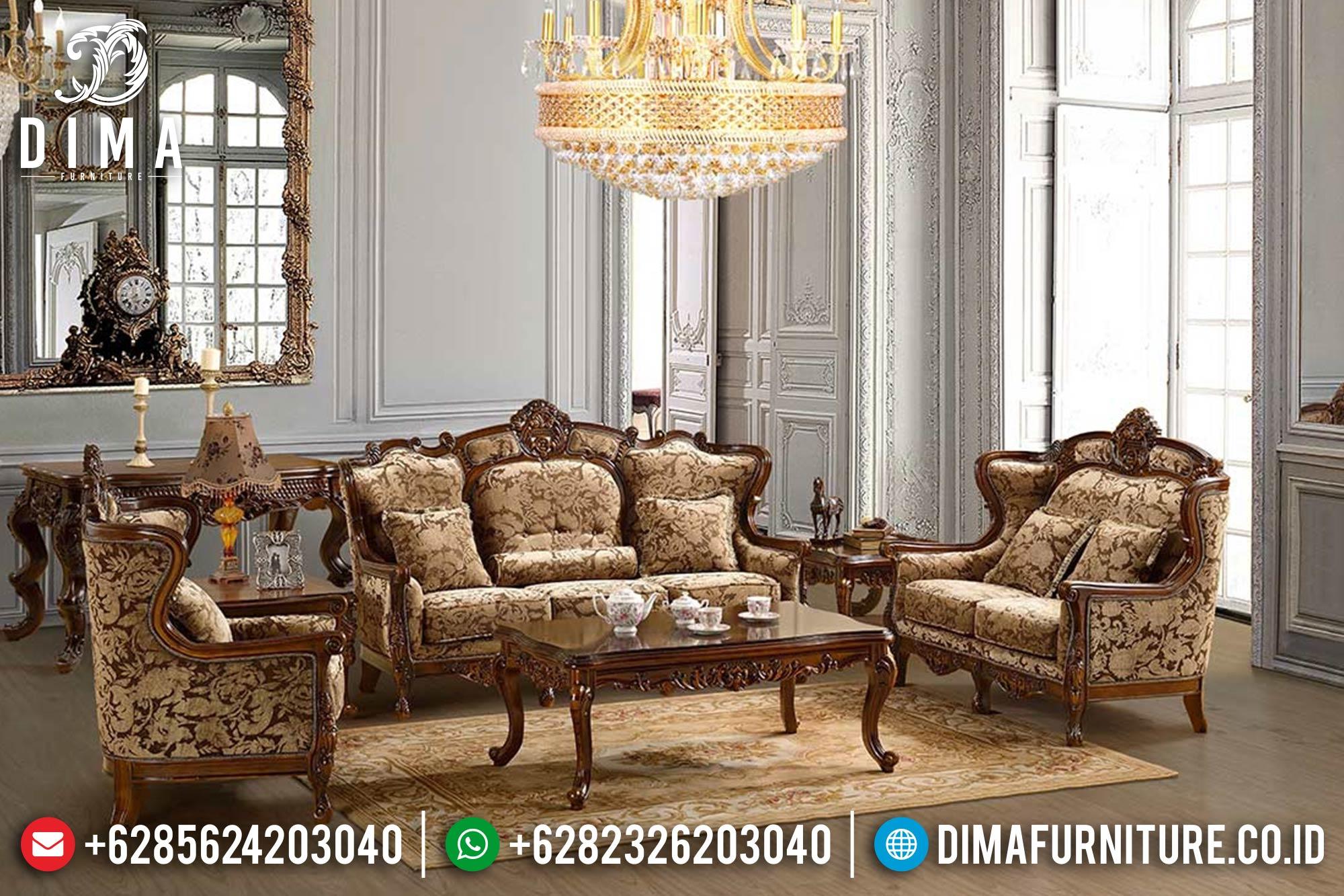 Set Kursi Sofa Tamu Jati Jepara Mewah Klasik Terbaru DF-0349