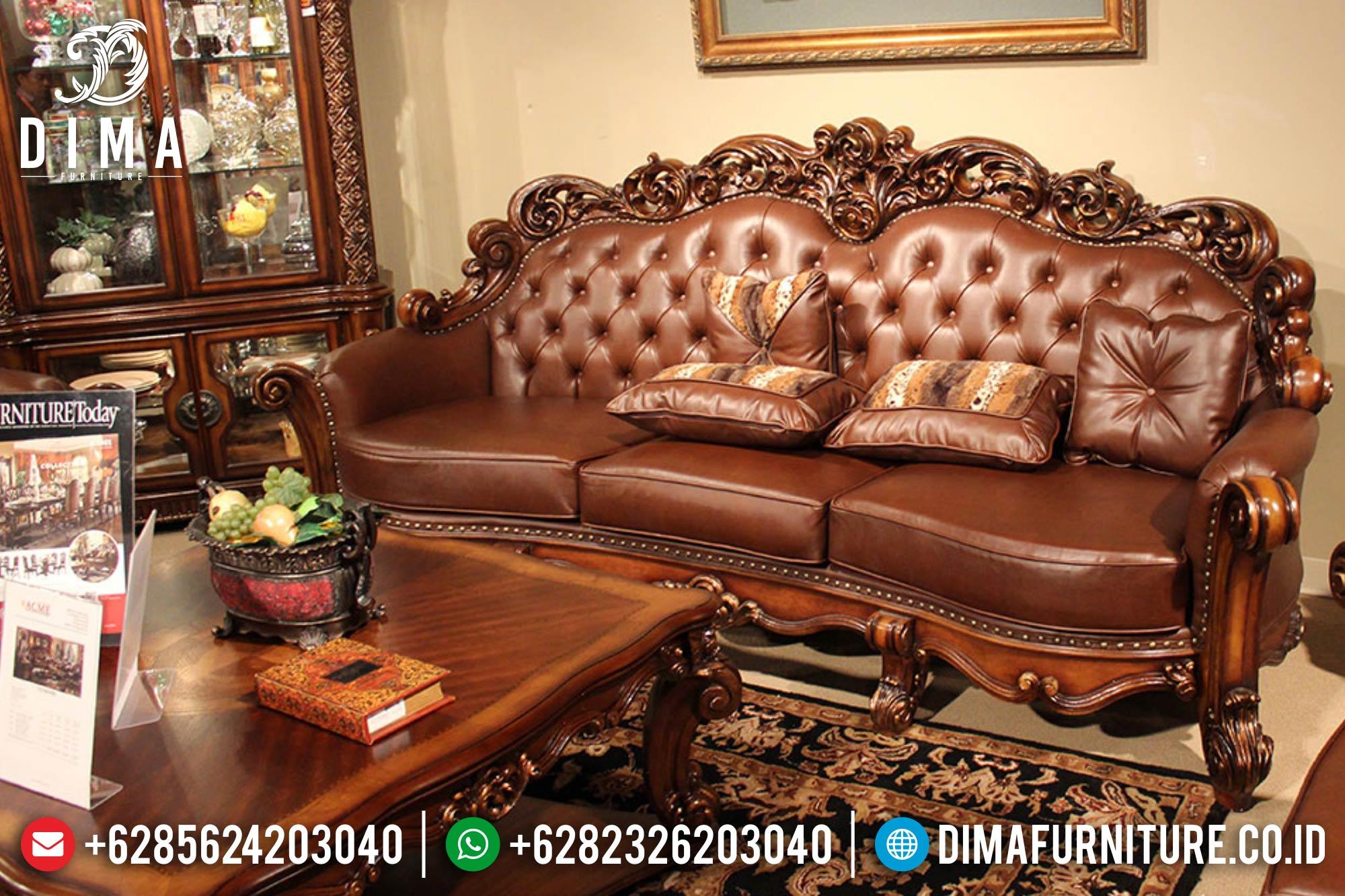 Kursi Sofa Tamu Jepara Set Mewah Terbaru Klasik Royals DF-0386 Gambar 1