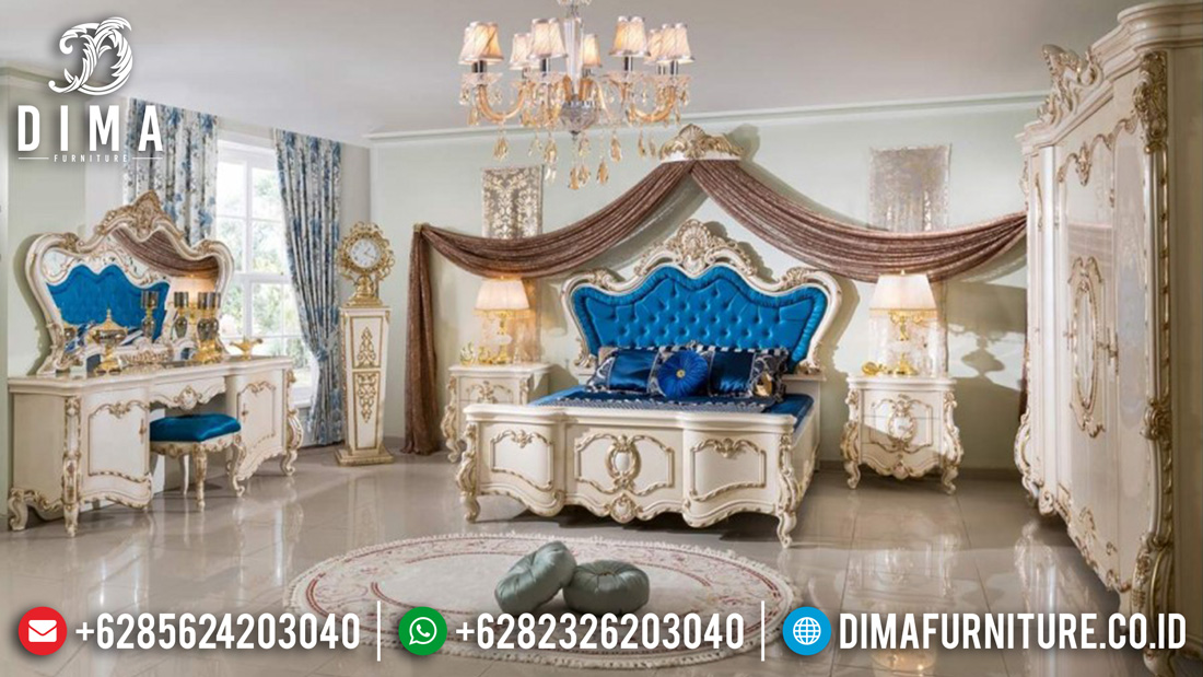 Kamar Set Mewah Jepara Luxury Terbaru Duco Putih Emas DF-0376