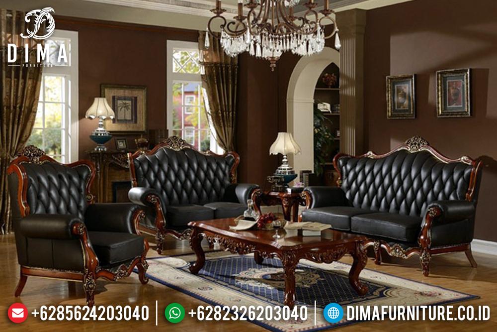 Set Kursi Sofa Ruang Tamu Jati Jepara Mewah Terbaru Harga Murah DF-0421