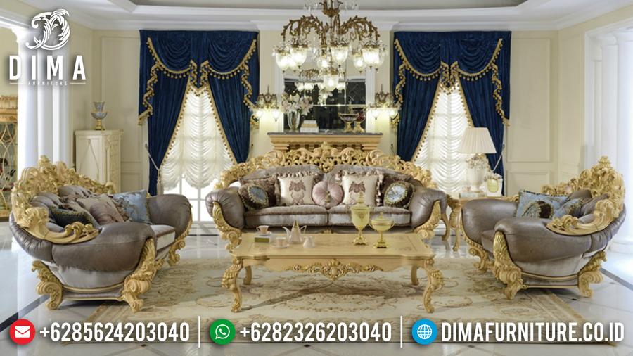 Set Kursi Sofa Tamu Mewah Terbaru Ukiran Jepara Klasik Brunello DF-0440