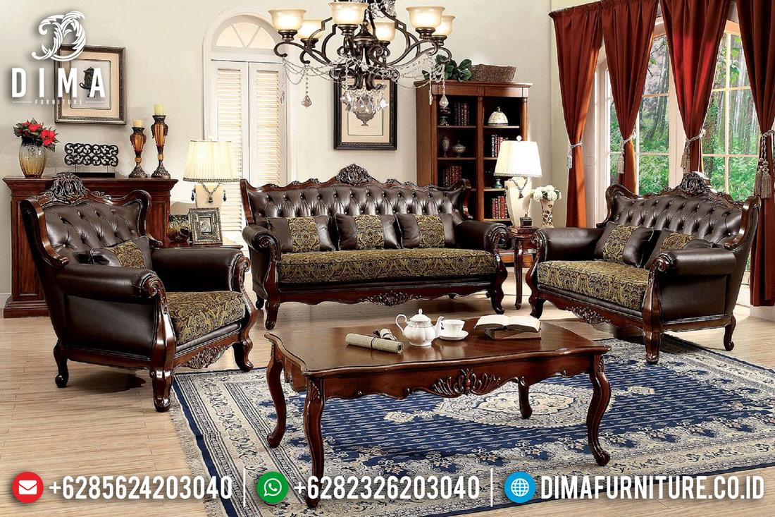 Sofa Mewah Terbaru, Kursi Ruang Tamu Minimalis, Kursi Jati Jepara DF-0424