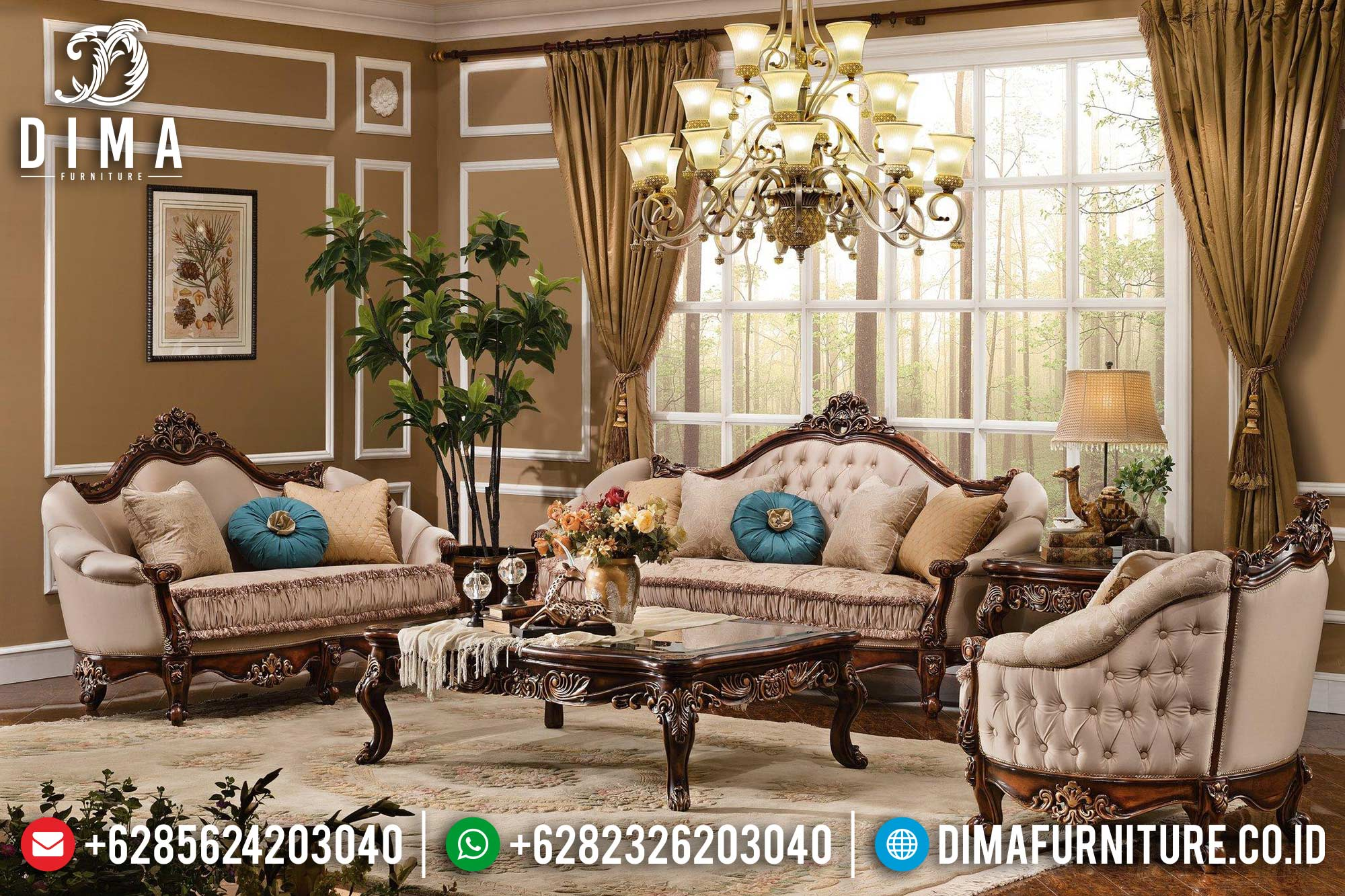 Sofa Tamu Jepara Mewah Astonishing Terbaru Ukiran Classic Luxury DF-0419