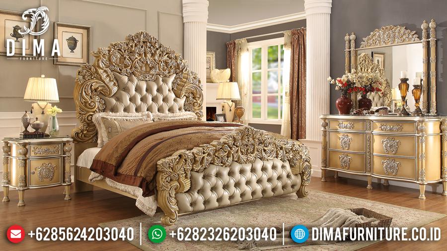 Kamar Set Mewah Jepara Ukiran Klasik Royals Luxury Terbaru Cat Duco Emas DF-0456
