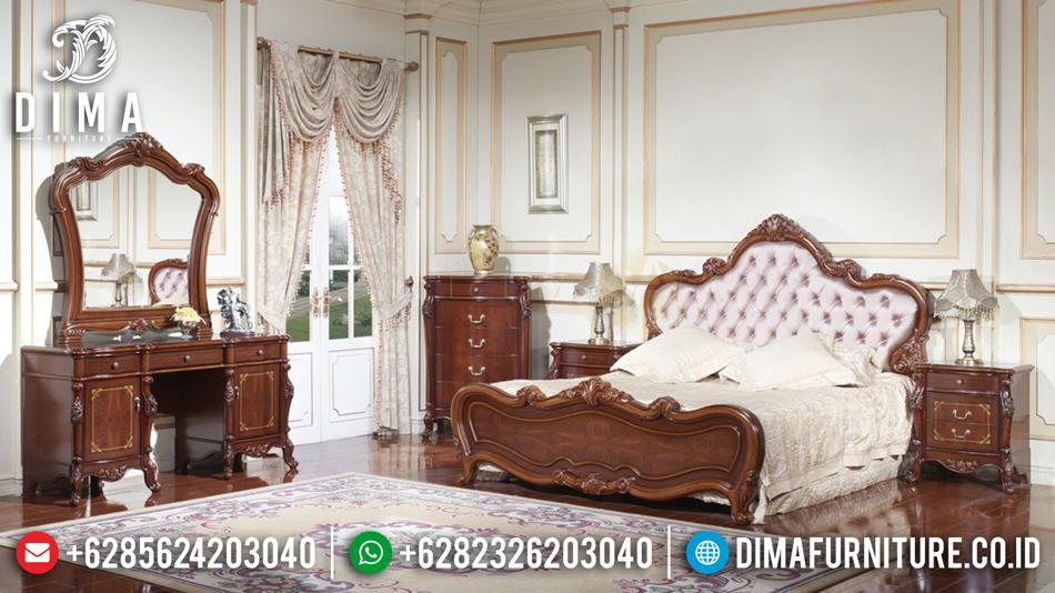 Set Kamar Tidur Jepara, Kamar Set Mewah Terbaru, Dipan Minimalis Jati DF-0452