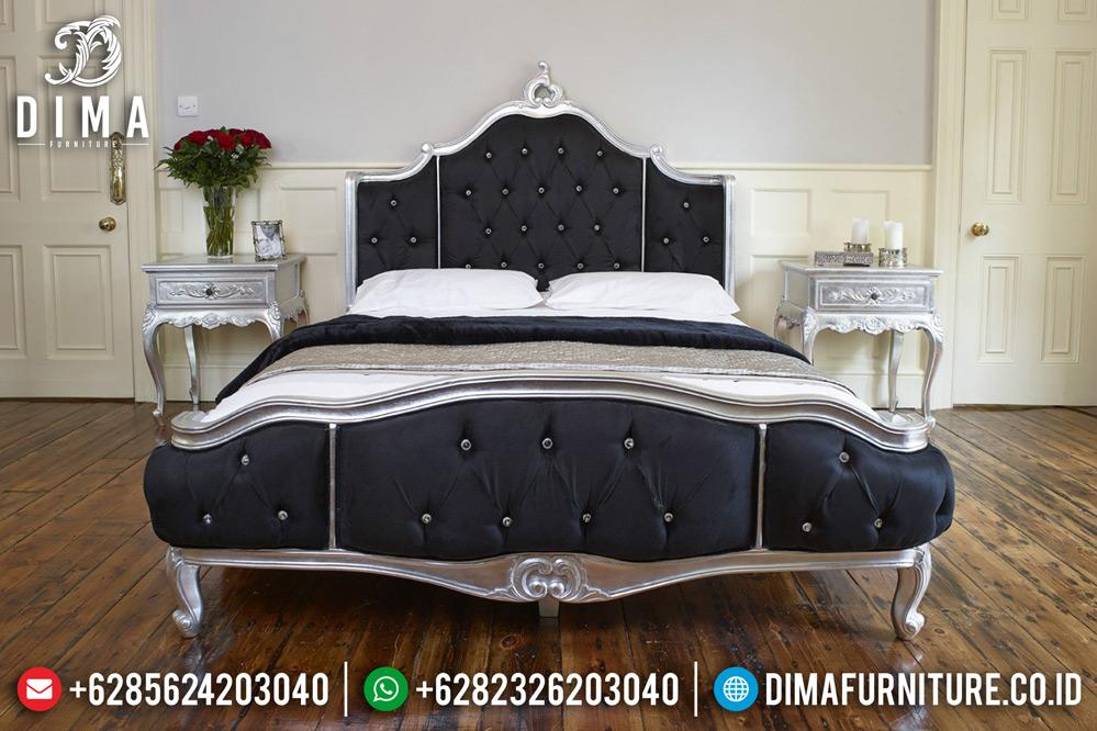 Set Kamar Tidur Jepara Mewah Terbaru Ukiran Rococo Duco Silver DF-0465 Gambar 1