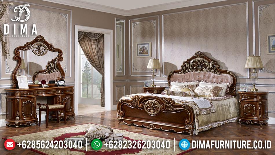 Set Kamar Tidur Mewah, Kamar Set Jati Jepara, Dipan Jati Jepara DF-0450