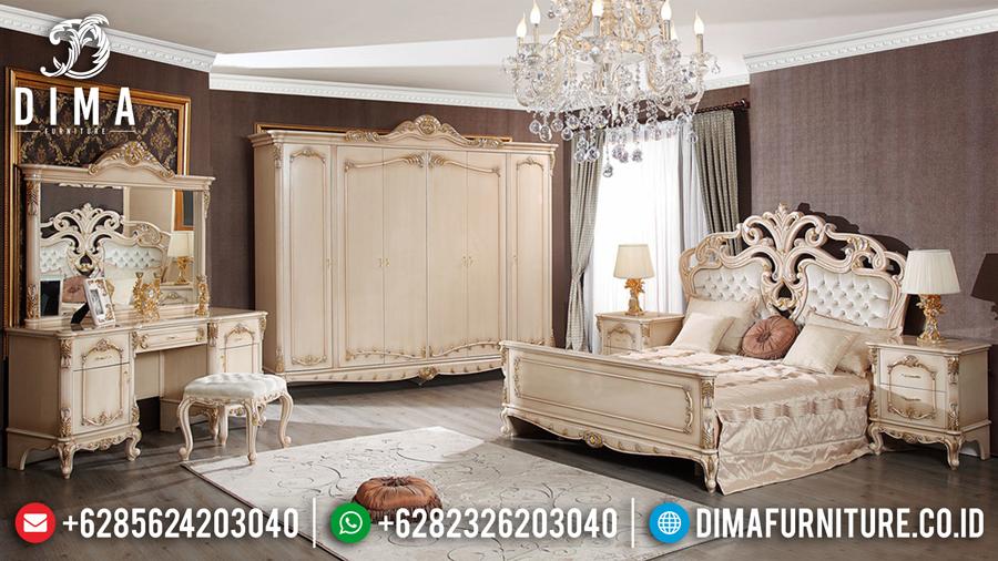 Tempat Tidur Duco Ivory Emas Kamar Set Mewah Jepara Terbaru DF-0445