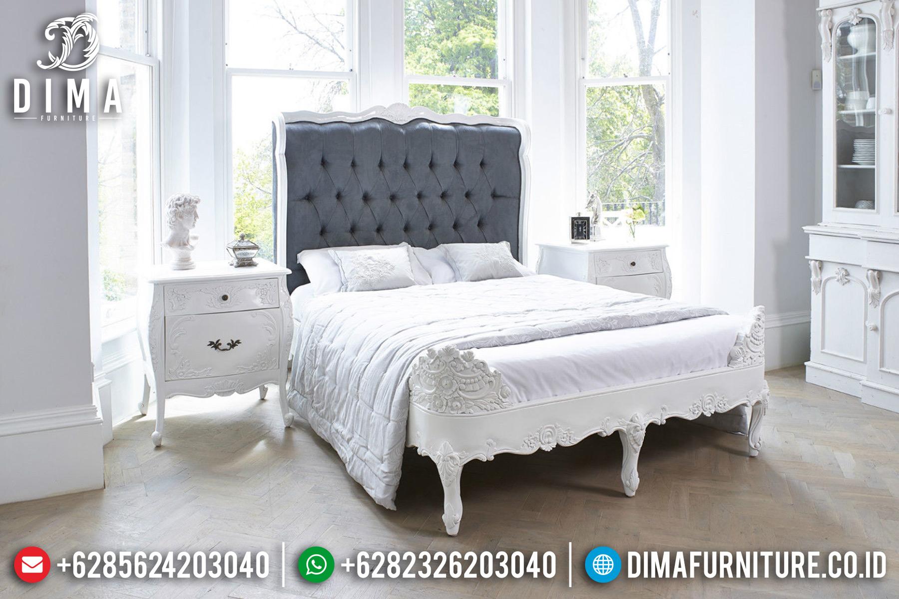 Tempat Tidur Minimalis Jepara, Set Kamar Tidur Mewah, Kamar Set Mewah Duco Putih DF-0464 Gambar 1