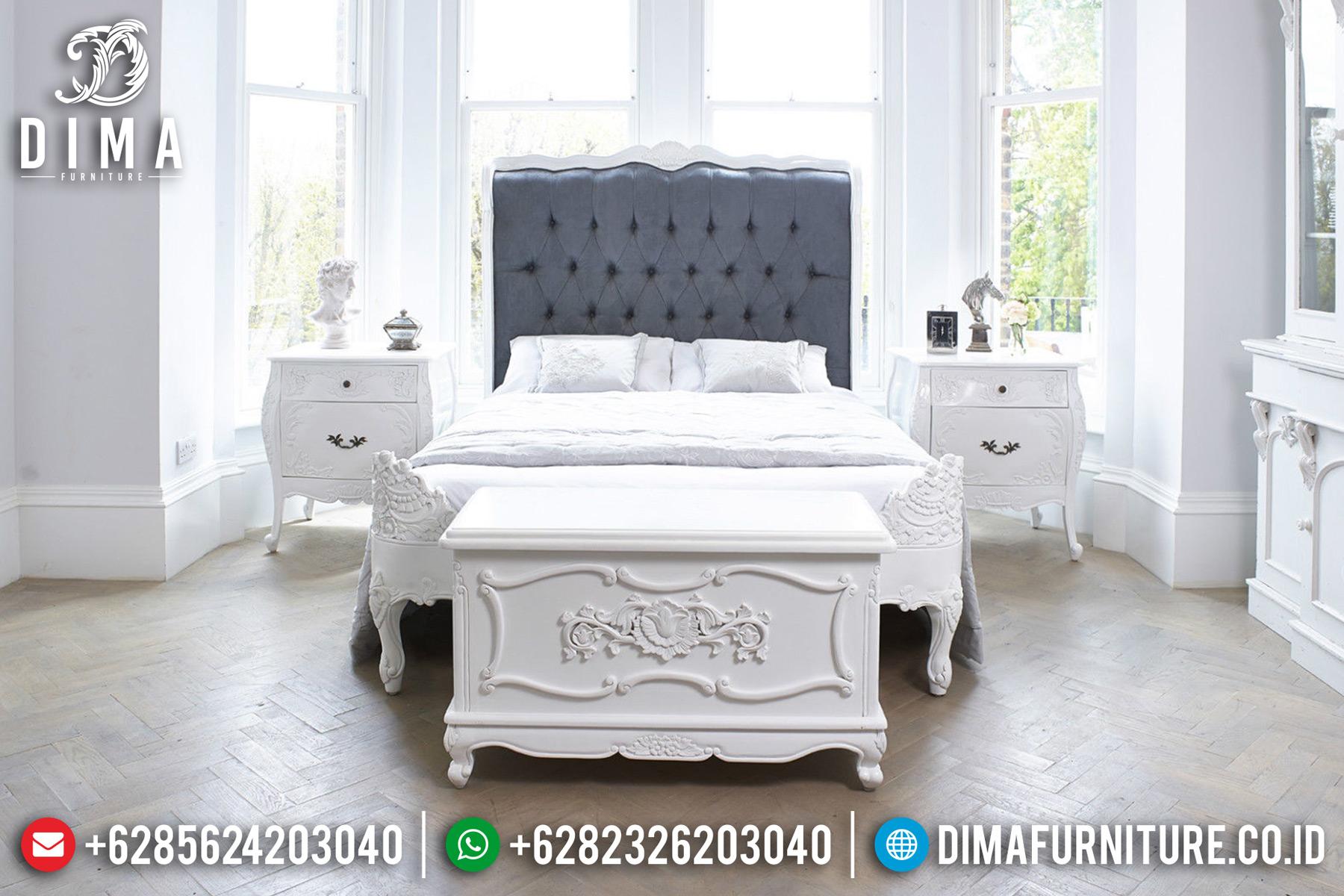 Tempat Tidur Minimalis Jepara, Set Kamar Tidur Mewah, Kamar Set Mewah Duco Putih DF-0464 Gambar 2