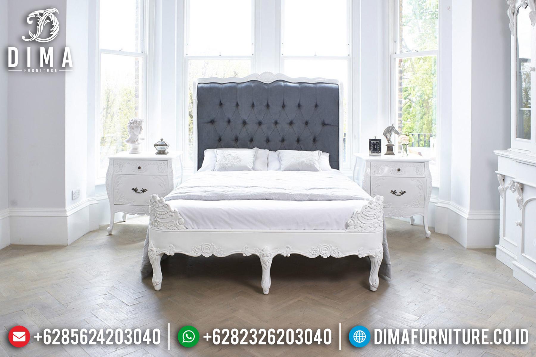 Tempat Tidur Minimalis Jepara, Set Kamar Tidur Mewah, Kamar Set Mewah Duco Putih DF-0464