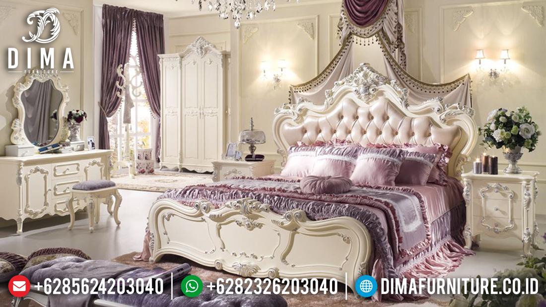 Furniture Murah Set Kamar Tidur Mewah Klasik Ukiran Jepara Terbaru DF-0477