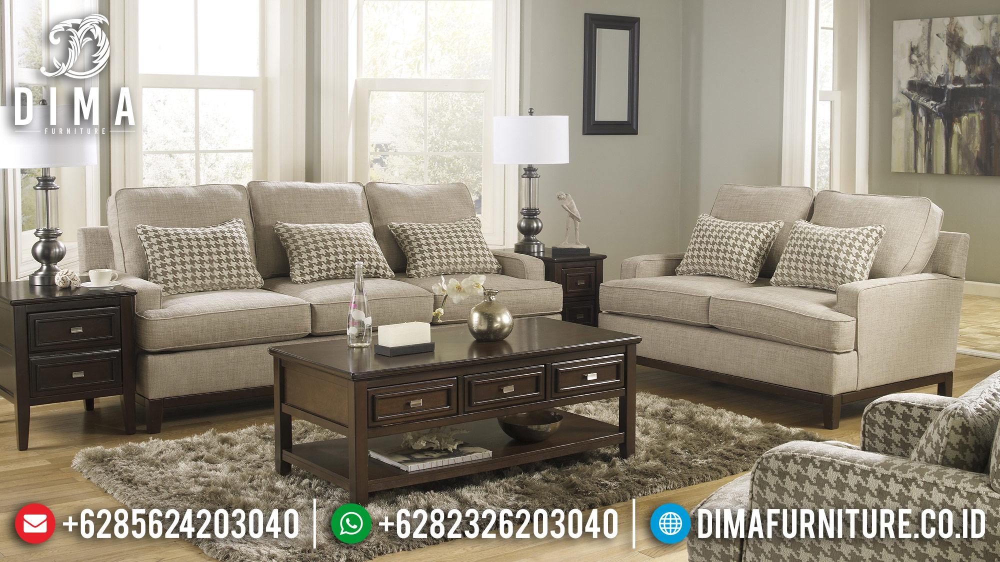 Kursi Sofa Tamu Minimalis Mewah Jepara Terbaru Fabric Gray DF-0479