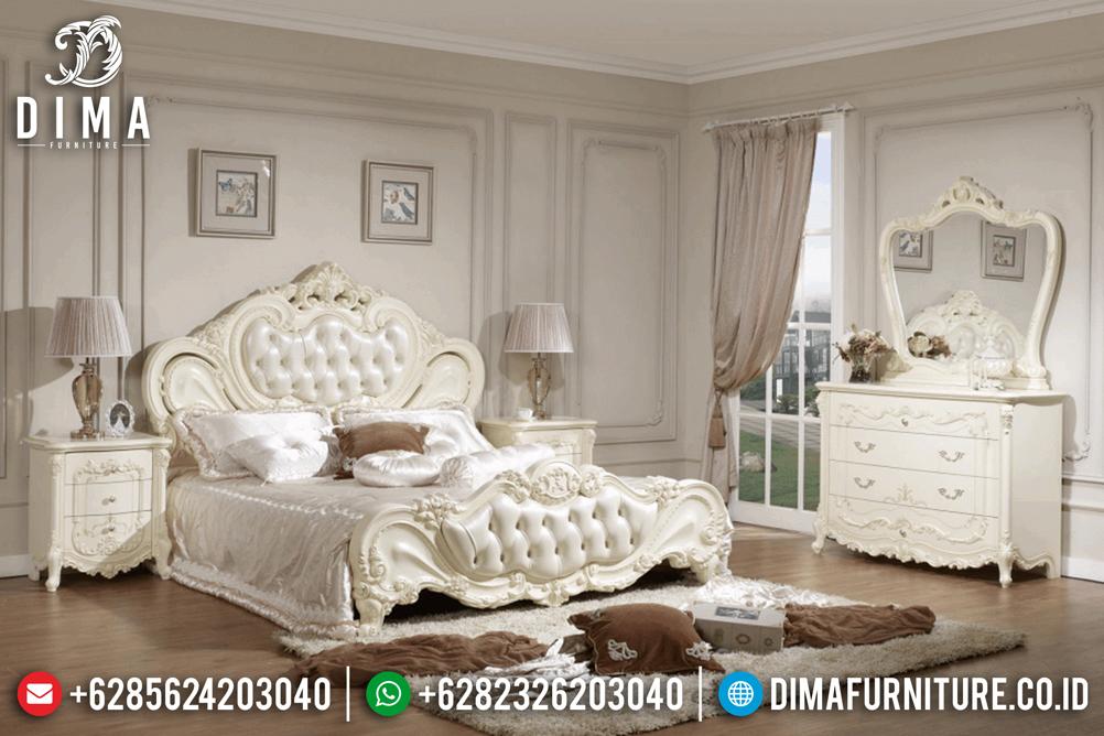Set Kamar Tidur Mewah Jepara Ukiran Klasik Eropa Cat Duco Ivory DF-0490