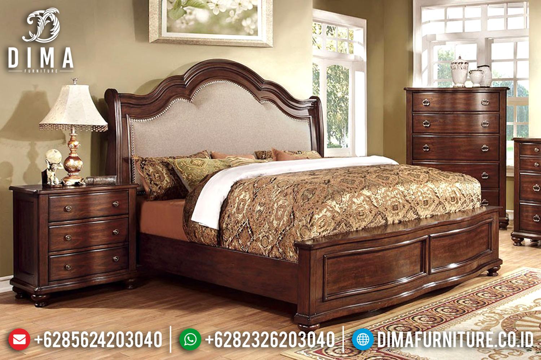 Set Kamar Tidur Mewah Minimalis Jati Jepara Terbaru Seri Davina DF-0492