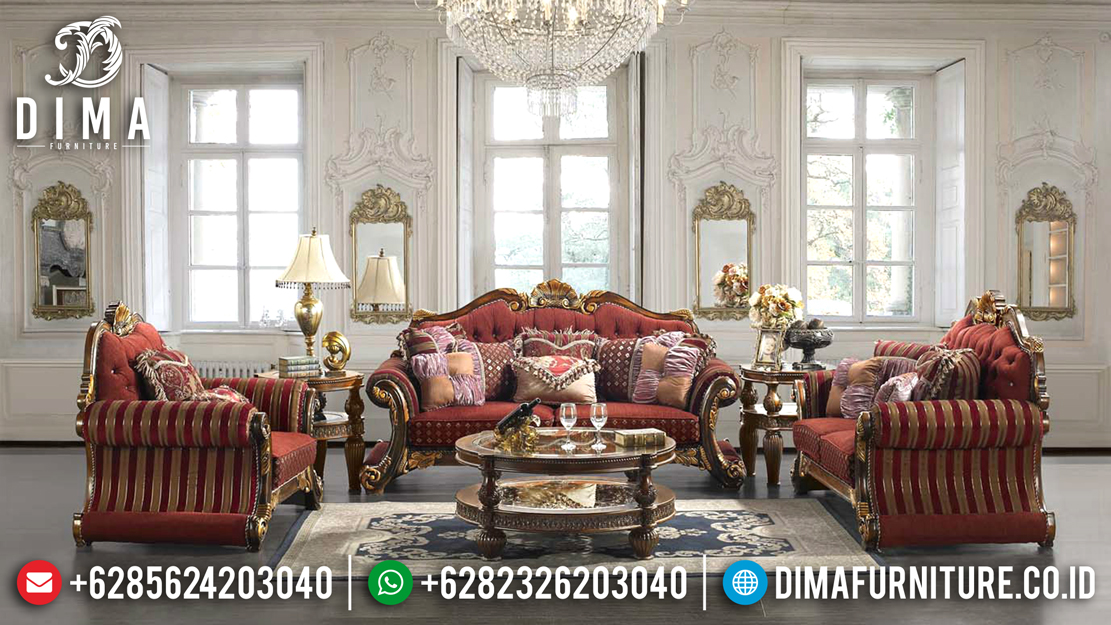 Set Kursi Sofa Tamu Mewah Ukiran Jepara Jati Luxury Jackson Chair DF-0487