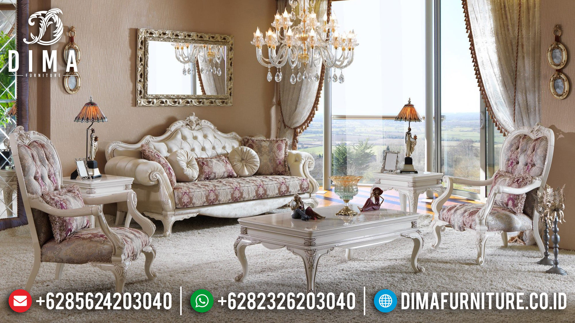 Luxury Furniture Set Sofa Tamu Mewah Jepara DF-0510