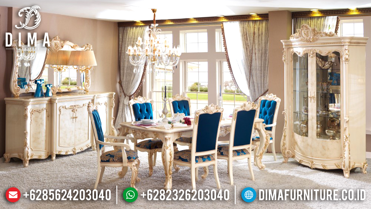 Meja Makan Mewah Jepara Terbaru 2018 15 Dima Furniture Jepara