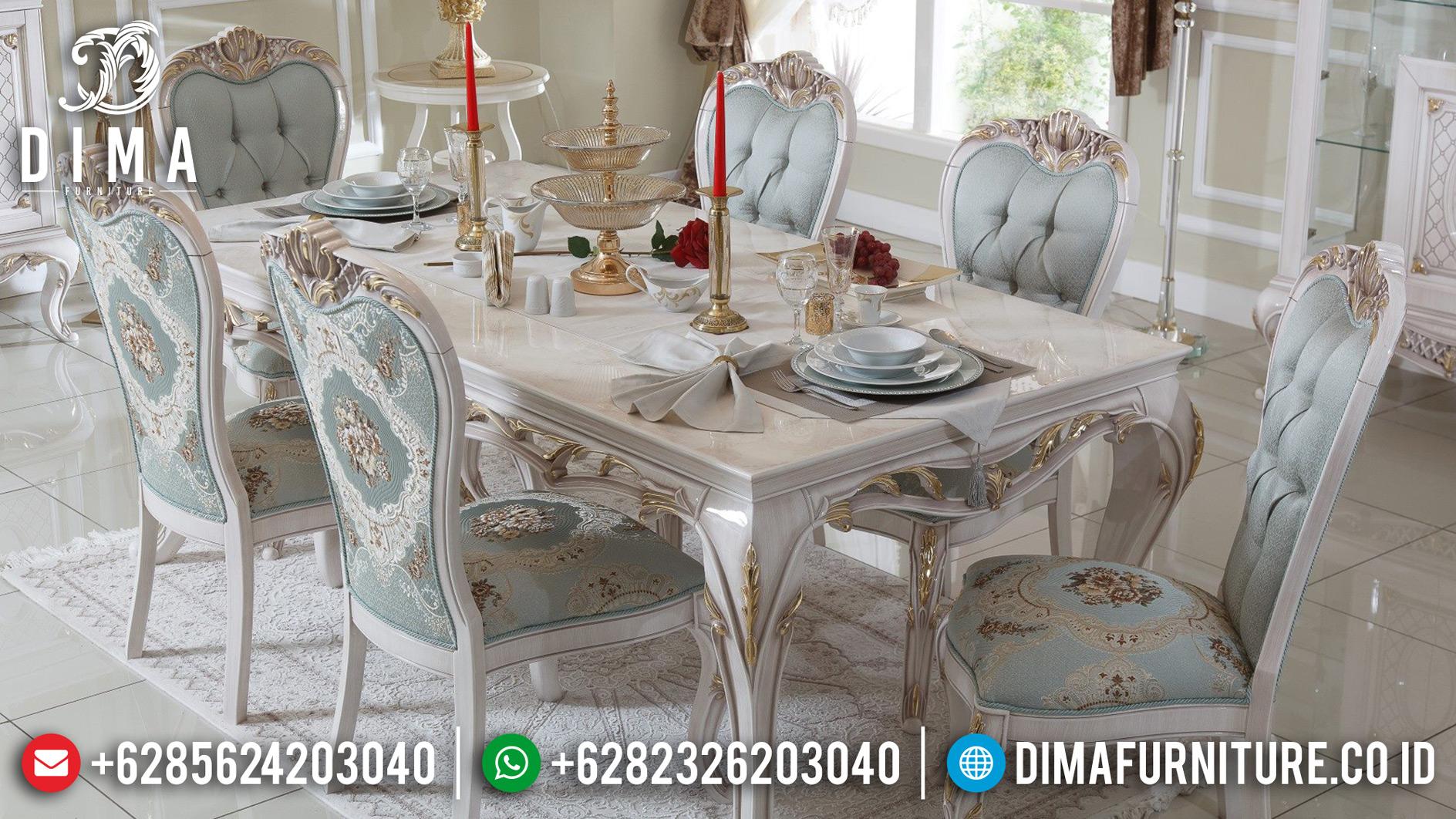 Meja Makan Mewah Klasik Turki Ukiran Jepara Terbaru Meva DF-0502