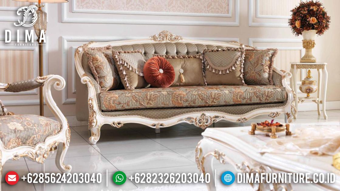 Sofa Tamu Jepara Mewah Terbaru Milat Koltuk Duco Ivory Emas DF-0495 Gambar 2