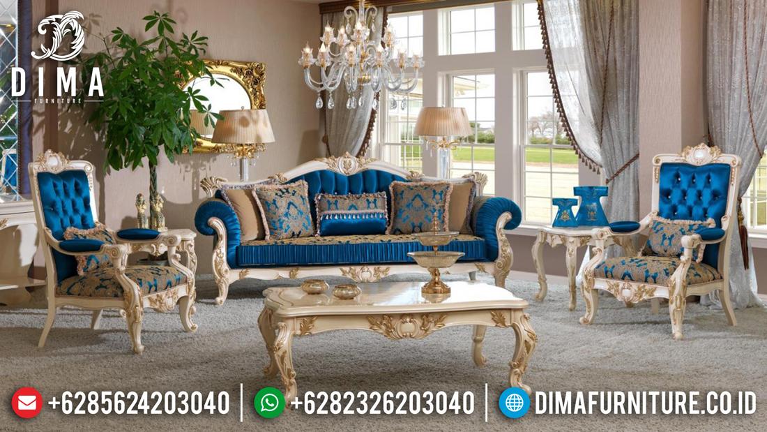 Sofa Tamu Mewah Jepara Ukiran Klasik Royal Erciyes Duco Ivory DF-0496