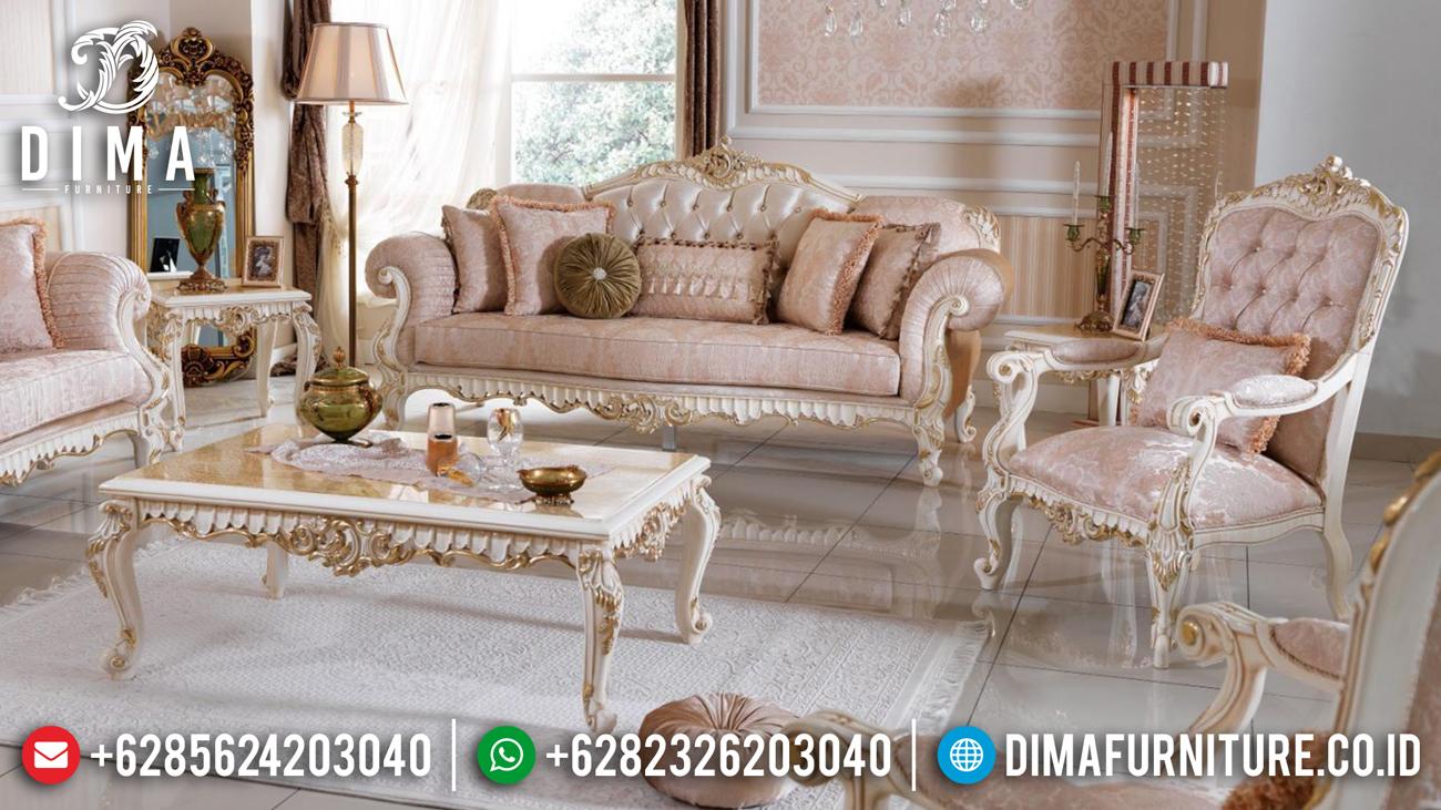 Sofa Tamu Mewah, Kursi Tamu Ukiran Klasik, Mebel Jepara Mewah Terbaru DF-0494 Gambar 1