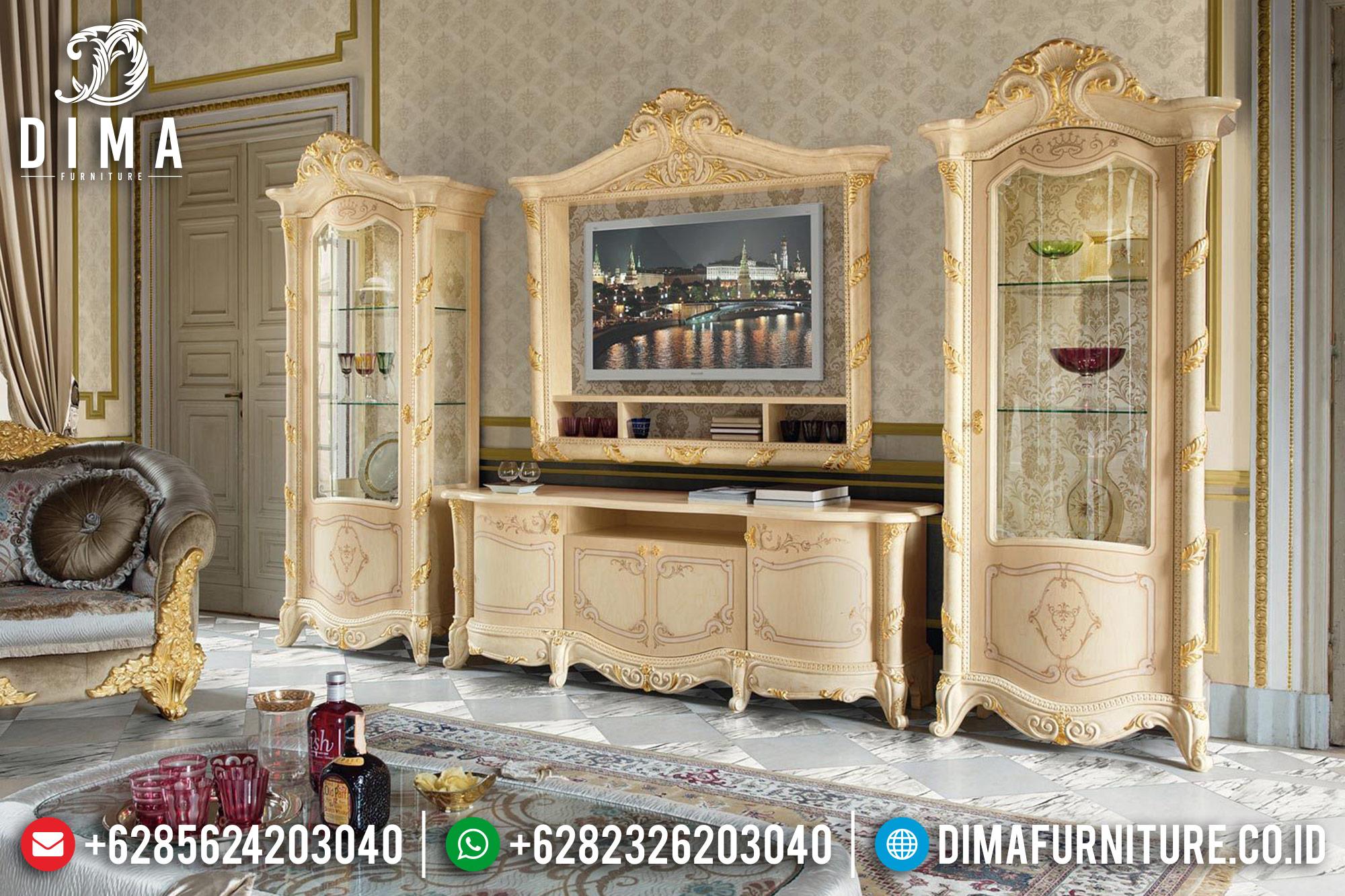 Set Bufet TV Mewah Lemari Hias Klasik Duco Jepara Terbaru Madame DF-0515