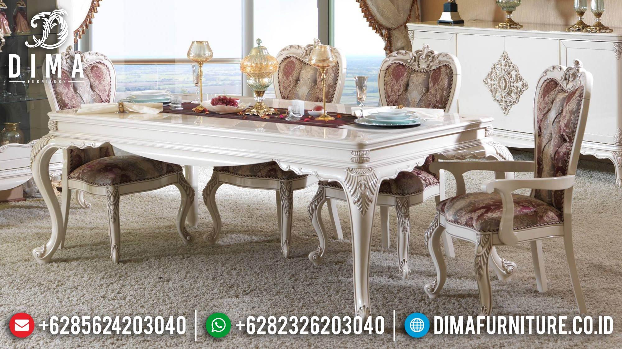 Meja Makan Mewah Terbaru Ukiran Klasik Jepara Duco DF-0530