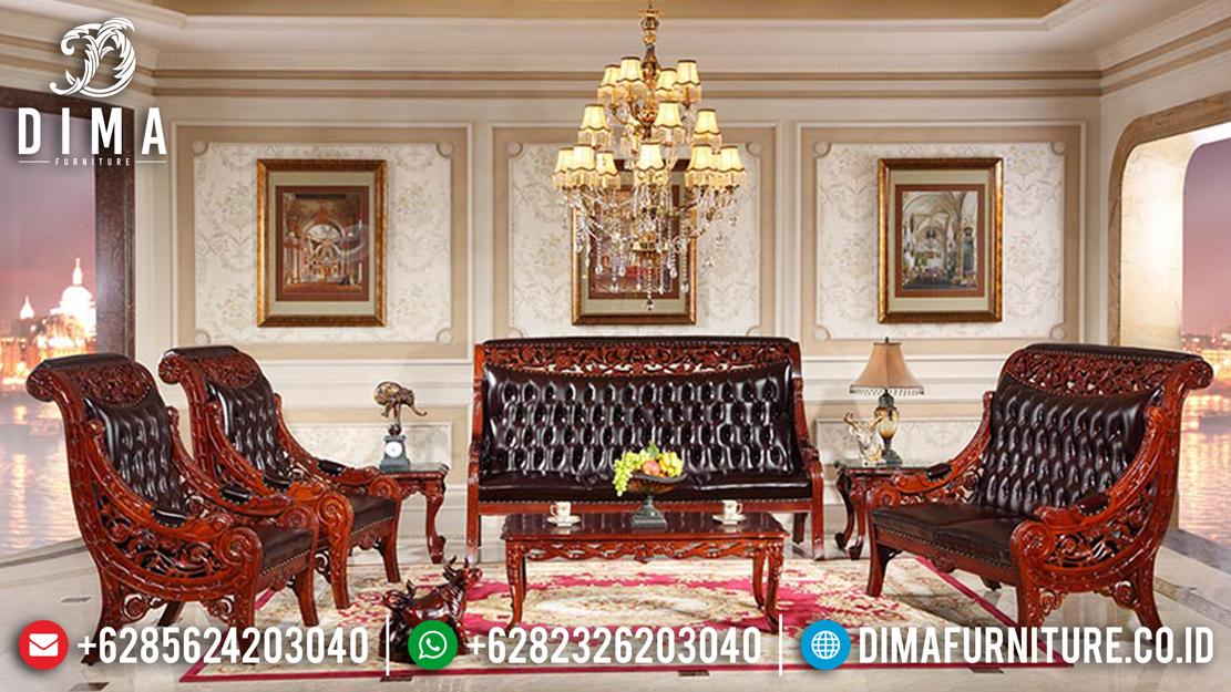 Mebel Murah Jepara Set Kursi Tamu Mewah Jati Model Rafi Ahmad DF-0570