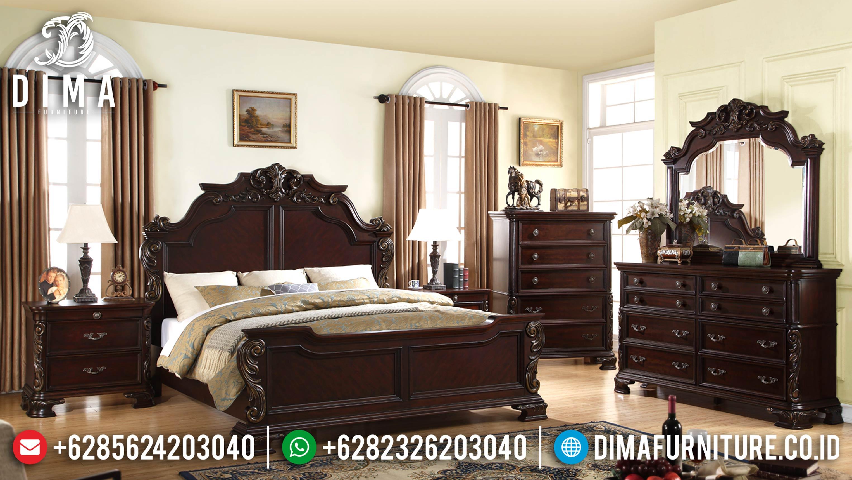 Kamar Set Tempat Tidur Mewah Jepara Minimalis Klasik Seri Nadia DF-0605