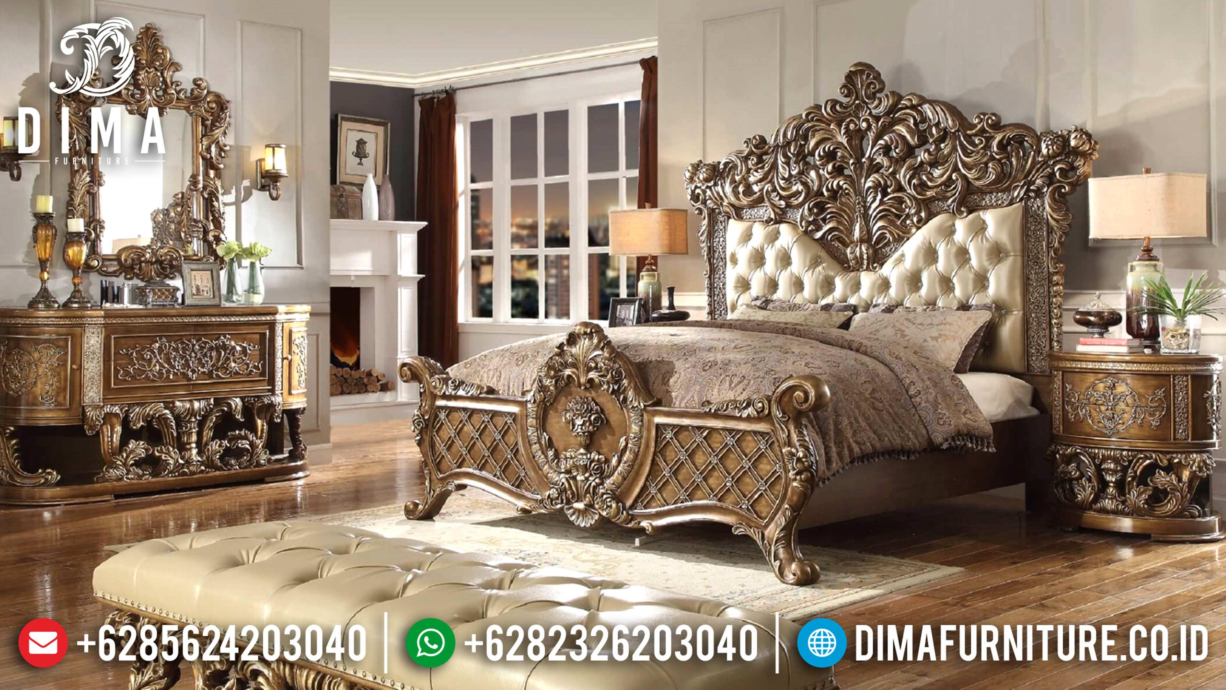 Marbella Classic Furniture Tempat Tidur Mewah Jepara Ukir Terbaru DF-0583