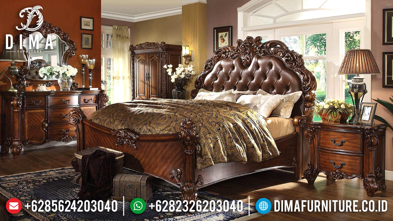 Mebel Jepara Terbaru, Tempat Tidur Classic Mewah, Kamar Set Jati Jepara DF-0585