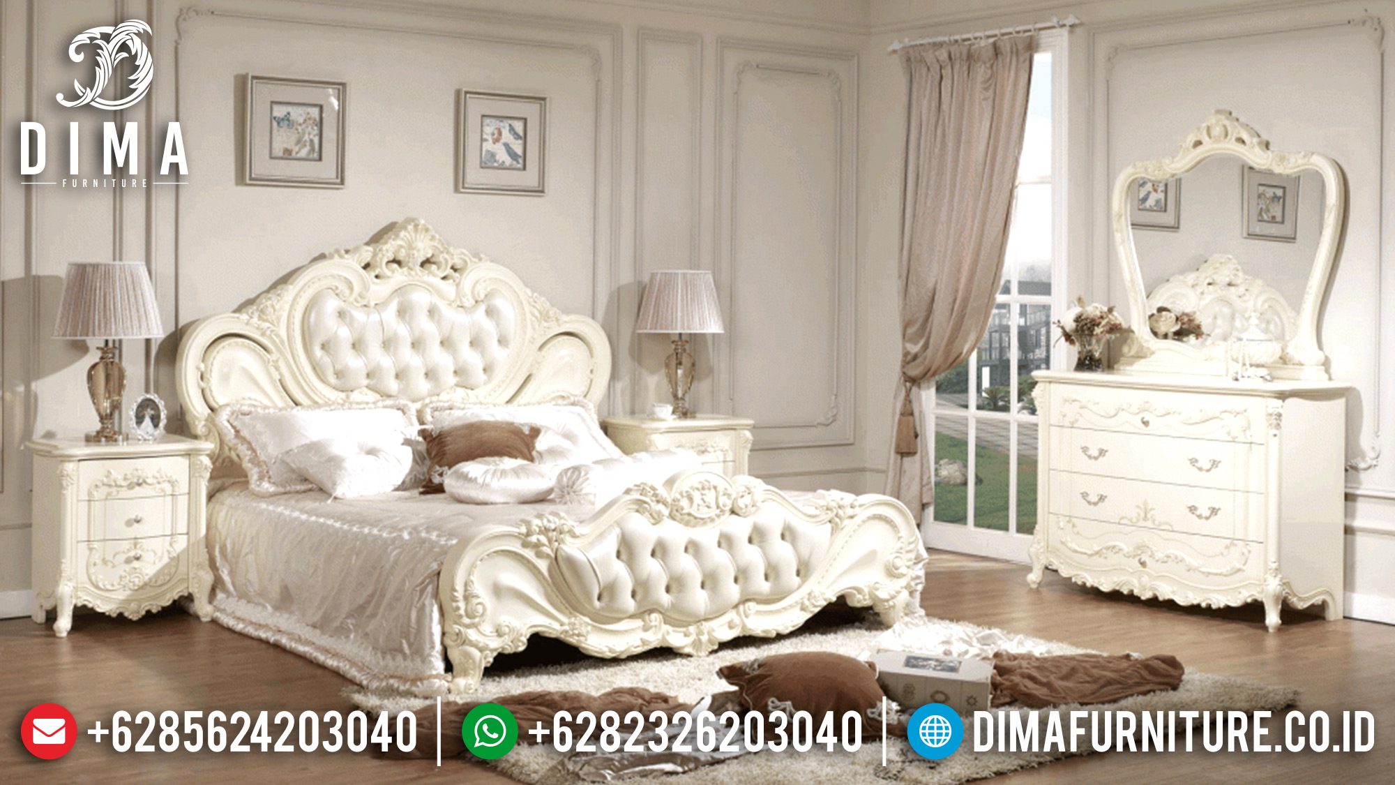 Tempat Tidur Jepara Model Classic Ukiran Mewah Davinci Duco DF-0587
