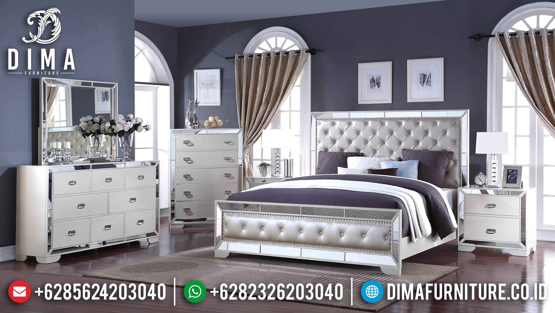 Tempat Tidur Minimalis Mewah Jepara Seri Gloria Silver Terbaru DF-0603