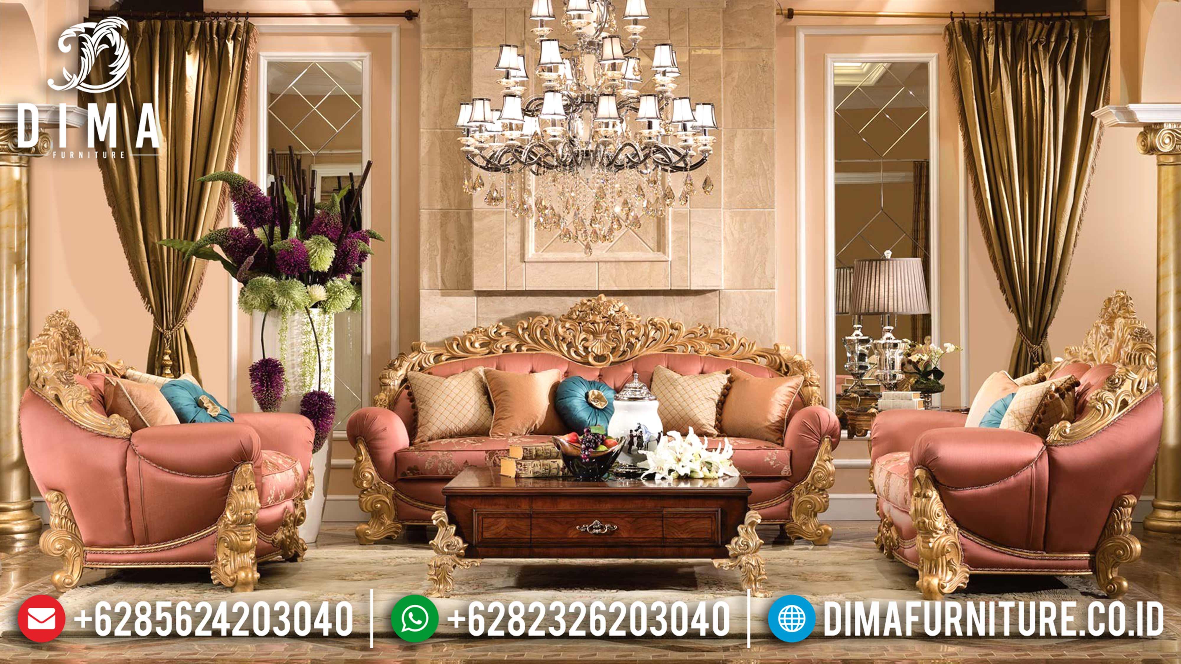Waldorf Classic Furniture Set Sofa Tamu Jepara Mewah Ukiran Jepara DF-0582